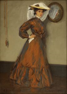 "Image of Lady in a Silk Dress or ""The Girl in the Silk Dress"""