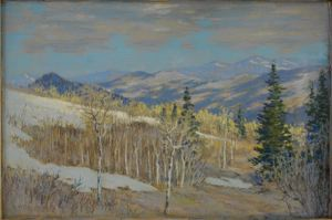 Image of Wasatch Mountains in Early Spring