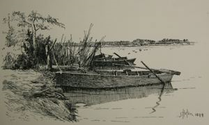 Image of Fishing Boats, Bullrushes West of Springville