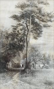 Image of Pine Trees near Paris, Auvers sur Oise