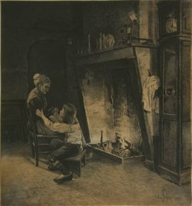Image of Dutch Fireplace sketch