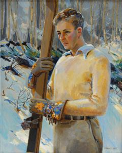 Image of Watching the Ski Meet: Portrait of Theodore Milton Wassmer
