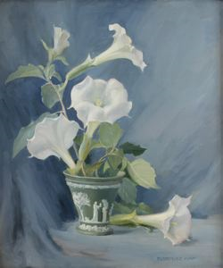 Image of Moon Flowers in Wedgewood