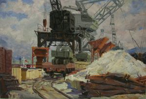 Image of Salvage Cranes at the Port of Odessa