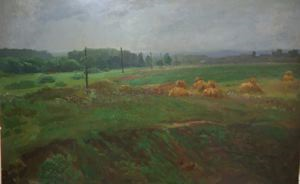 Image of Landscape with Hay Stacks