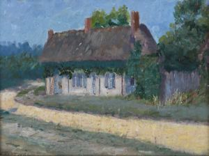 Image of Thatched Cottage near Epernon, Eure et Loir, France (study)