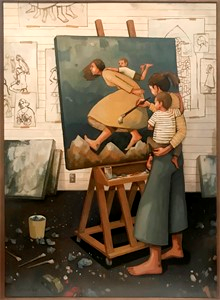 Image of mother painting