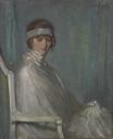 "Image of Lady in Silk or ""Lady in White"" or ""The Little Fan"""