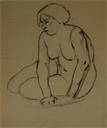 Image of Seated Female Nude Model
