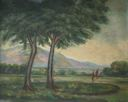 Image of Landscape with Trees and Brook