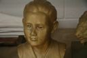 Image of Bust of a Young Boy Scout (painted gold)