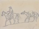 Image of Cowboy and Pack Mule (study)