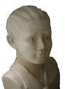 Image of Bust of a Young Boy Scout (painted white