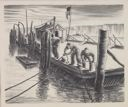 Image of Tying Off Boats, the Dock